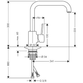 Flow Rate Normal Kitchen Taps